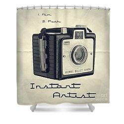 Instant Artist Shower Curtain by Edward Fielding