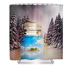 Instant Getaway  Shower Curtain by Terry Fleckney