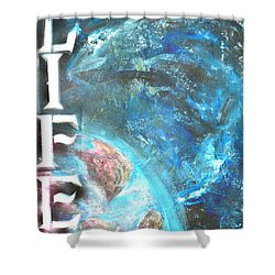 Intelligent Life Shower Curtain