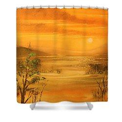 Intense Orange Shower Curtain by Remegio Onia