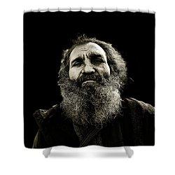 Intense Portrait Shower Curtain