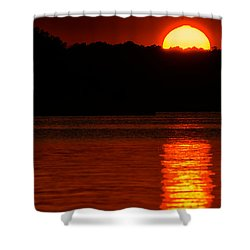 Intense Sunset Shower Curtain