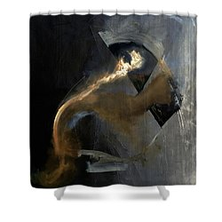 Intensity Shower Curtain by Antonio Ortiz
