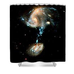 Interacting Galaxies Group Arp 194 Shower Curtain by Amanda Struz