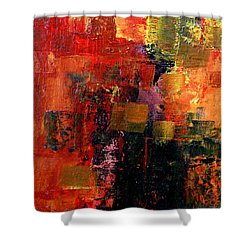 Interaction Shower Curtain by Jim Whalen