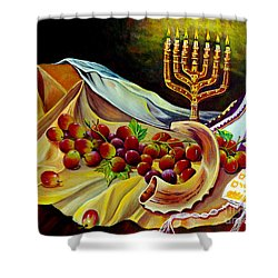 Intercession Shower Curtain by Nancy Cupp