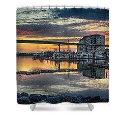Intercoastal Waterway And The Wharf Shower Curtain