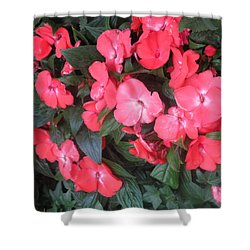 Shower Curtain featuring the photograph Interior Decorations Butterfly Garden Flowers Romantic At Las Vegas by Navin Joshi