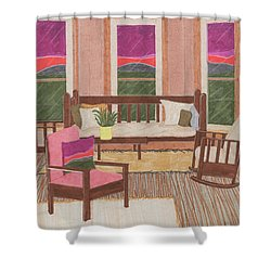 Shower Curtain featuring the drawing Interior Design by Jason Girard