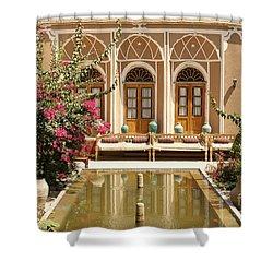 Interior Garden With Pond In Yazd Iran Shower Curtain
