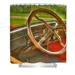 Interior Of A 1926 Model T Ford Shower Curtain by Thomas Young