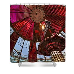 Interior Of Fresnel Lens In Umpqua Lighthouse Shower Curtain