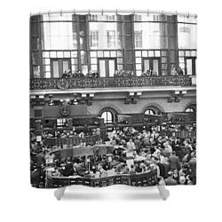 Interior Of Ny Stock Exchange Shower Curtain by Underwood Archives