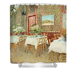 Interior Of Restaurant Shower Curtain by Vincent van Gogh