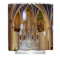 Interior Of St. Mary's Church Shower Curtain by Mark Dodd