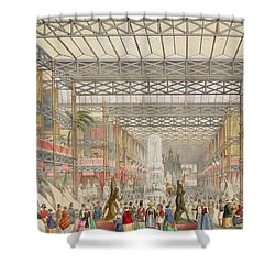 Interior Of The Crystal Palace, Pub Shower Curtain by Augustus Butler