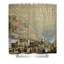 Interior Of The Great Exhibition Of All Shower Curtain by Edmund Walker