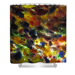 Shower Curtain featuring the photograph Interior Roof Decorations Casino Hotel Resorts Las Vegas by Navin Joshi