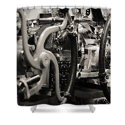 Internal Mechanics Uss Bowfin Shower Curtain by Douglas Barnard
