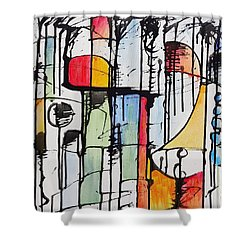 Internal Opposition Shower Curtain by Jason Williamson