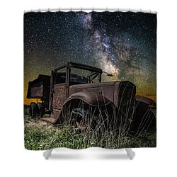 International Milky Way Shower Curtain