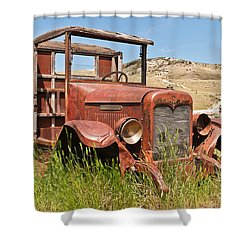 Shower Curtain featuring the photograph International Truck by Sue Smith