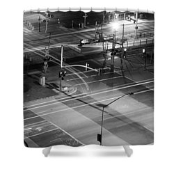 Shower Curtain featuring the photograph Intersection by Heidi Smith
