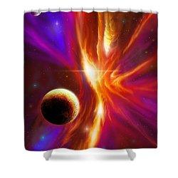 Intersteller Supernova Shower Curtain by James Christopher Hill