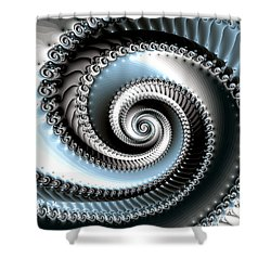 Intervolve Shower Curtain by Kevin Trow