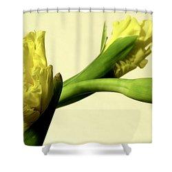 Intimate Unfurling Shower Curtain by Deborah  Crew-Johnson