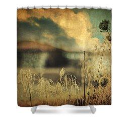 Into Deep Sleep Shower Curtain by Taylan Apukovska