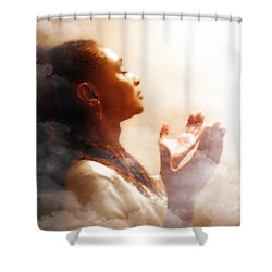 Into His Glory Shower Curtain