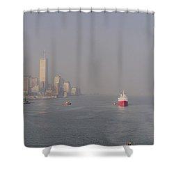 Into Port Shower Curtain by Joann Vitali