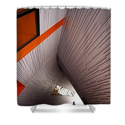 Into The Abyss Shower Curtain by Wayne Sherriff