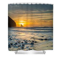 Into The Blue I Shower Curtain by Marco Oliveira