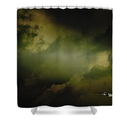 Into The Clouds Shower Curtain by Paul Job