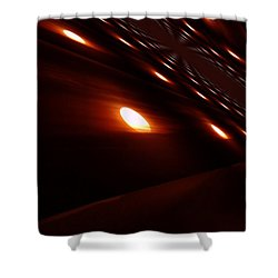 Into The Death Star Shower Curtain by Jeff Swan