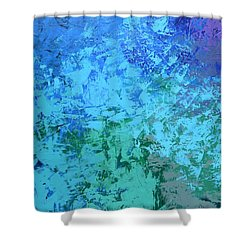 Into The Deep Blue Sea Shower Curtain