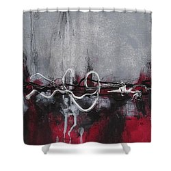 Into The Fire Shower Curtain by Nicole Nadeau