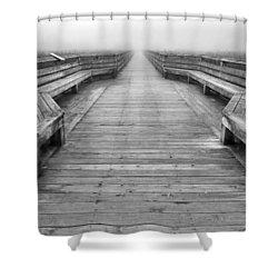 Into The Fog Shower Curtain by Cheryl Hoyle