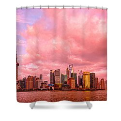 Into The Future Shower Curtain by Midori Chan