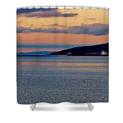 Into The Gitchigumi Night Shower Curtain