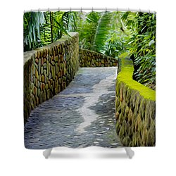 Into The Jungle Shower Curtain by Aged Pixel