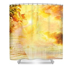 Into The Light Shower Curtain by Liane Wright