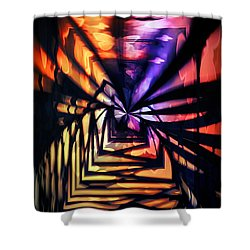 Into The Light Shower Curtain by Marianna Mills