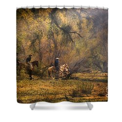 Into The Light Shower Curtain by Priscilla Burgers