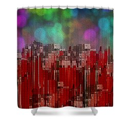Into The Night Sky Shower Curtain by Jack Zulli