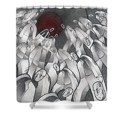 Into The Portal Shower Curtain