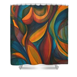 Into The Reeds Shower Curtain