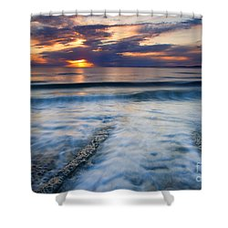 Into The Sea Shower Curtain by Mike  Dawson